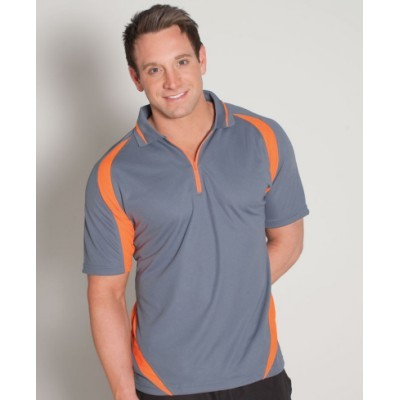 Picture of Podium Zip Poly Polo