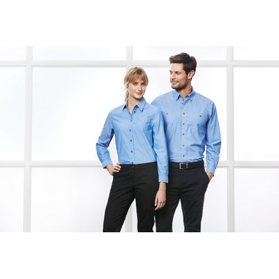 Picture of Ladies Wrinkle Free Chambray Long Sleeve