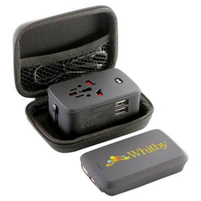 Picture of Lazio Travel Adaptor & Power Bank - 4000
