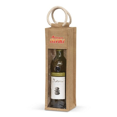 Picture of Serena Jute Wine Carrier