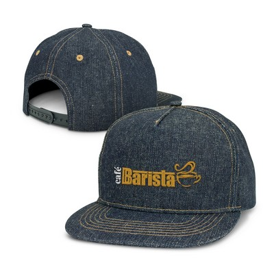 Picture of Denim Flat Peak Cap