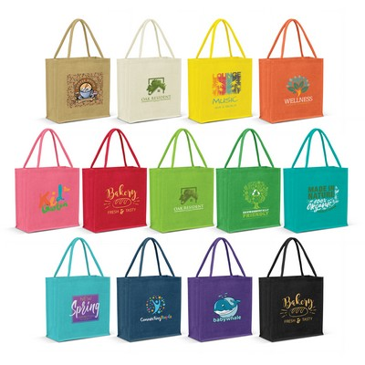 Picture of Monza Jute Tote Bag - Colour Match