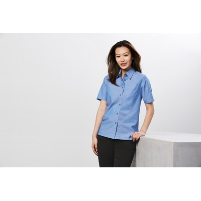 Picture of Ladies Wrinkle Free Chambray Short Sleev