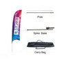 Small(65.3200cm) Concave Feather Banners