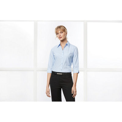 Picture of Ladies Micro Check 34 Sleeve Shirt