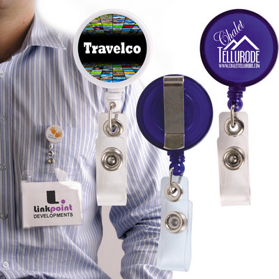 Picture of Corfu Retractable Name Badge Holder