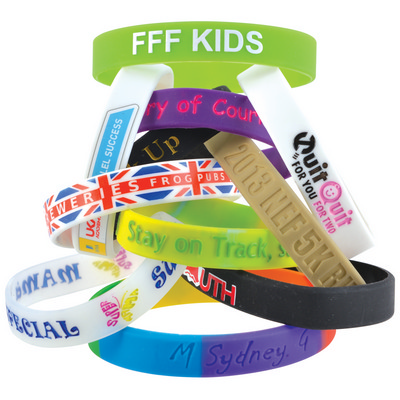 Picture of 12mm Wide Silicone Wrist Band