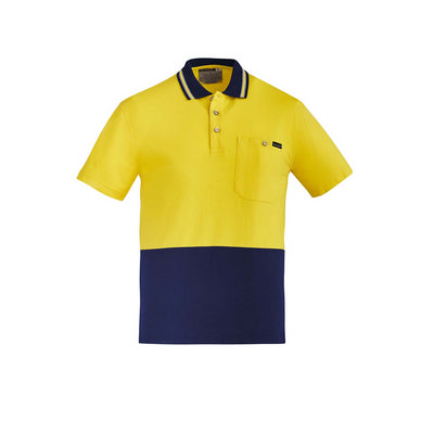 Picture of Mens Hi Vis Cotton SS Polo