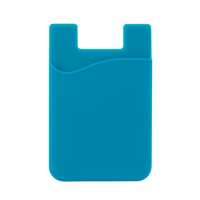 Picture of Silicone Phone Card Holder - Cyan