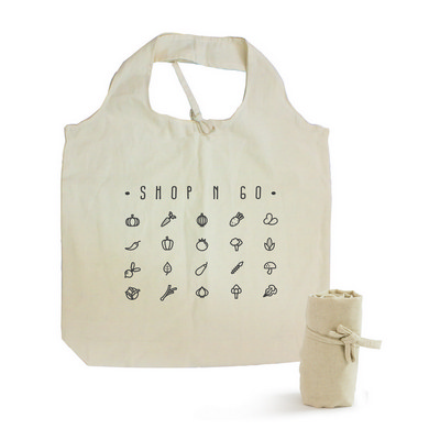 Picture of Natural Cotton Roll Up Tote Bag