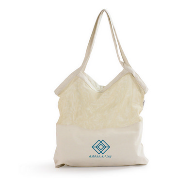 Picture of Mixed Mesh/Canvas Tote Bag