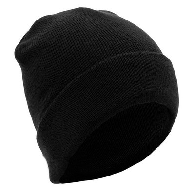 Picture of Turn Up Beanie - Black