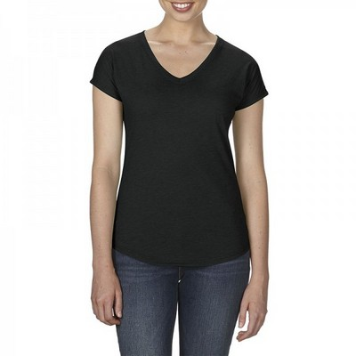 Picture of Anvil Womens Tri-Blend V Neck Tee