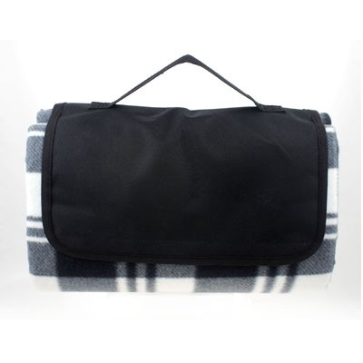 Picture of PICNIC TARTAN BLANKET - BLACK/GREY