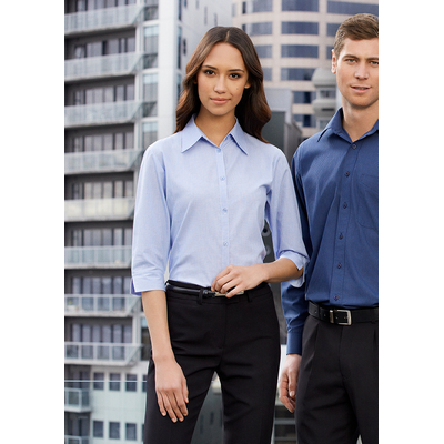Picture of Ladies Micro Check 3/4 Sleeve Shirt