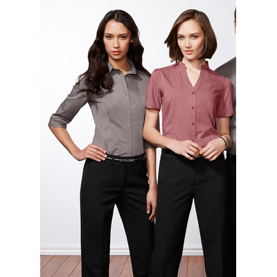 Picture of Ladies Chevron Stand Collar Shirt