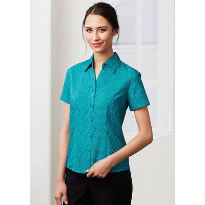 Picture of Ladies Printed Oasis Short Sleeve Shirt