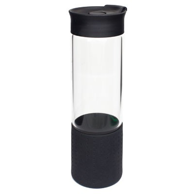 Picture of QUEST GLASS DRINK BOTTLE - BLACK