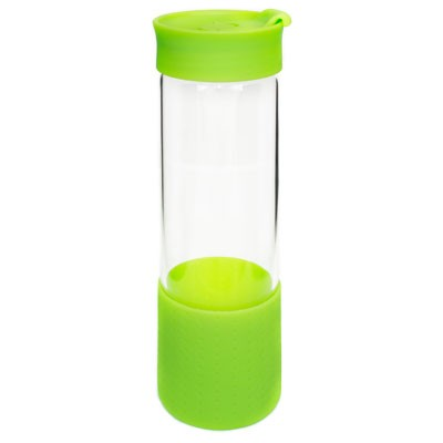Picture of QUEST GLASS DRINK BOTTLE - LIME GREEN