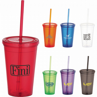 Picture of Iceberg 500ml Tumbler with Straw