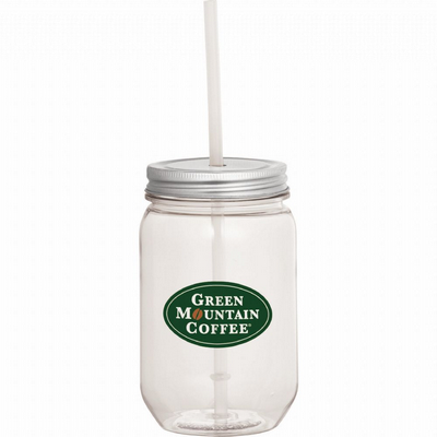 Picture of Mason Jar 650ml with Silver Tin Lid