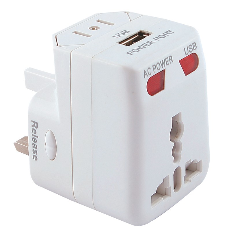 Picture of Mr Universe Travel Adaptor with USB (Stock)