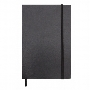 City Leather Look Notebook with Elastic